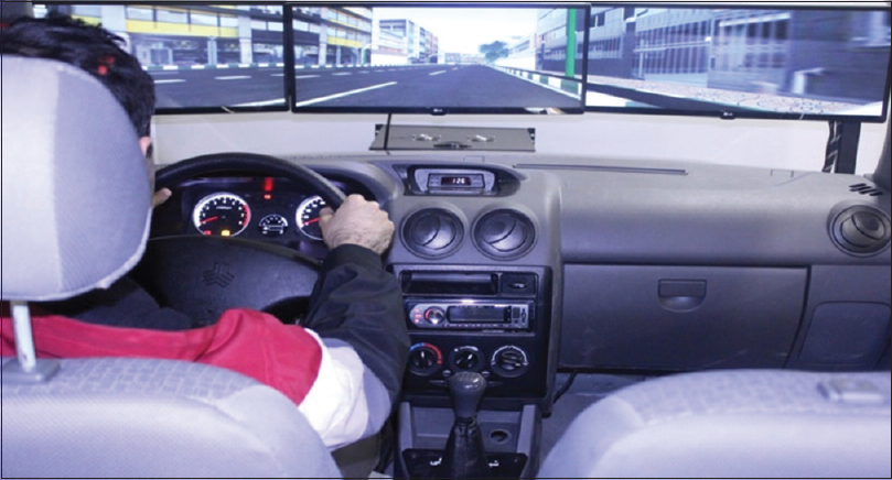 Figure 1: Driving simulator used in the study